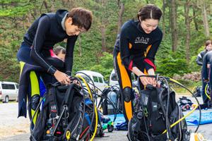 西伊豆修学旅行の体験ダイビング